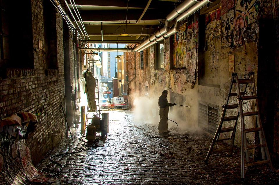 nettoyage de mur